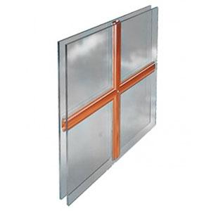 Kruisverdeling in het glas voor PVC ramen