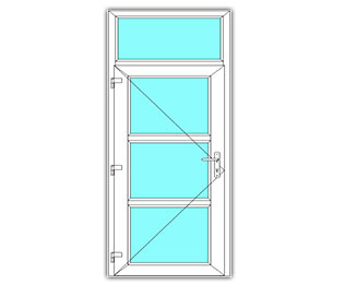 3 Vak Glasdeur links met bovenlicht
