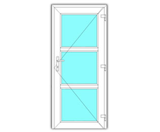 3 Vak glasdeur rechts
