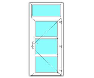 3 Vak Glasdeur rechts met bovenlicht
