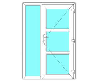 3 Vak glasdeur rechts met zijlicht