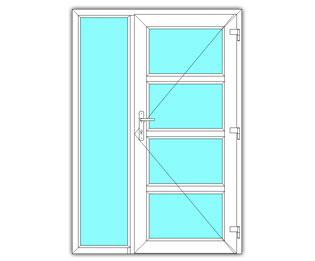 4 Vak glasdeur rechts met zijlicht