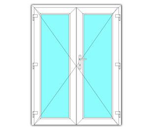 Dubbel glasdeur rechts