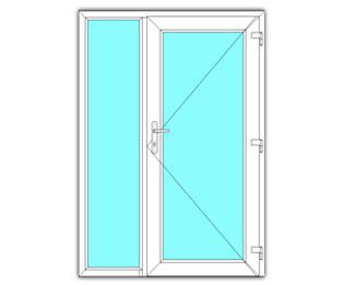 Glasdeur rechts met zijlicht
