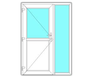 Halfglasdeur links met zijlicht