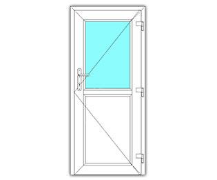 Halfglasdeur rechts