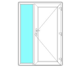 Paneeldeur rechts met zijlicht