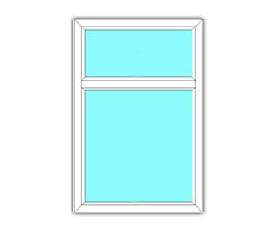 Vast raam met bovenlicht
