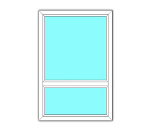 Vast raam met onderlicht